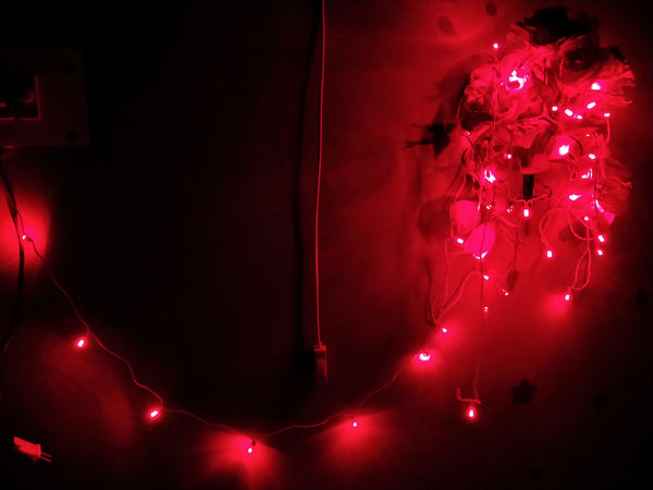 Hand made LED Chain (set Of 100 pcs)-[product_type]-50 Bulbs / Red / India-Khadiza Electricals