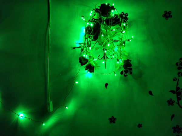 Hand made LED Chain (set Of 100 pcs)-[product_type]-50 Bulbs / Green / India-Khadiza Electricals