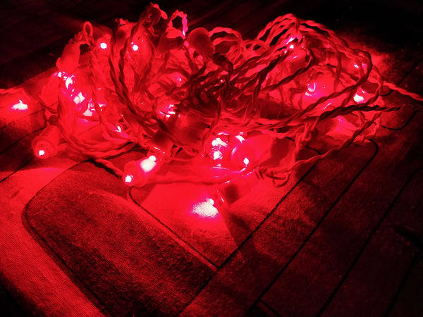 Hand made 8mm LED Chain (set Of 100 pcs)-[product_type]-India / Red-Khadiza Electricals