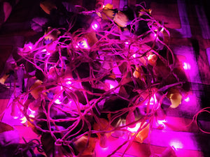 Hand made 8mm LED Chain (set Of 100 pcs)-[product_type]-India / Pink-Khadiza Electricals