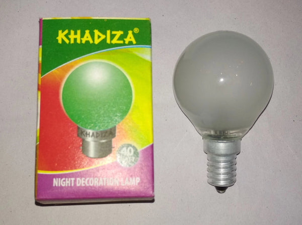 Khadiza Incandescent Round Frosted 40w Bulb (Box of 20 pcs)-[product_type]-E14 / India-Khadiza Electricals