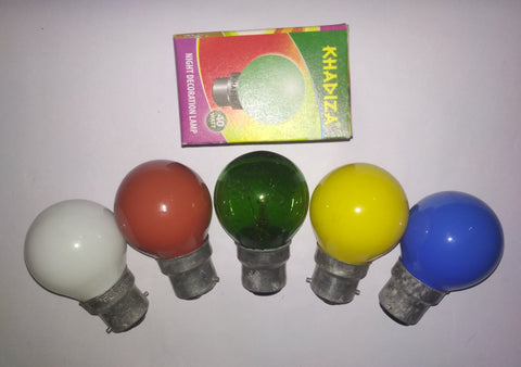 Khadiza Incandescent Round Color 10w Bulb (Box of 20 pcs)