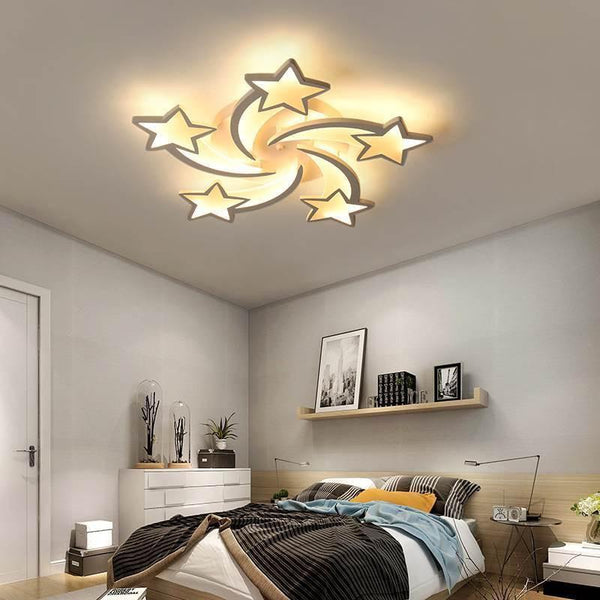 Star Shaped LED Chandelier App Supported-Decorative Chandelier-5 heads / Warm white no remote-Khadiza Electricals