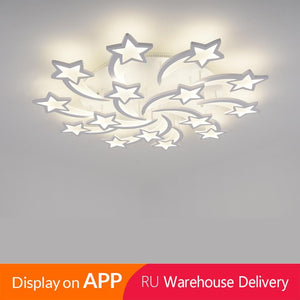 Star Shaped LED Chandelier App Supported