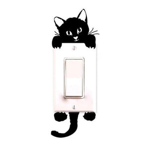 Cat Wall Striker to Decorate Switches-Non Electric Home Decor-Black / Small-Khadiza Electricals