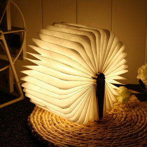 Magnetic Fold-able Wooden Book Shape Desk Lamp (USB Rechargeable) Default title 0