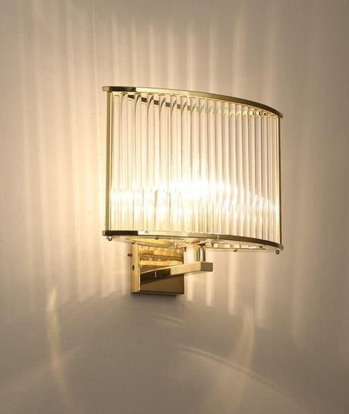 Italian design Modern Glass Wall Sconce Light-Decorative Wall Lamp-Gold-Khadiza Electricals