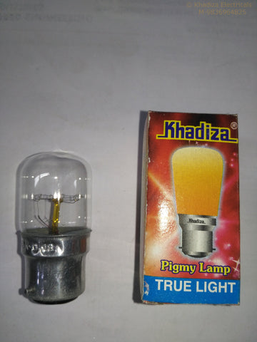 Khadiza Incandescent Pigmy Clear Bulb (Box of 24 pcs) B22 / India