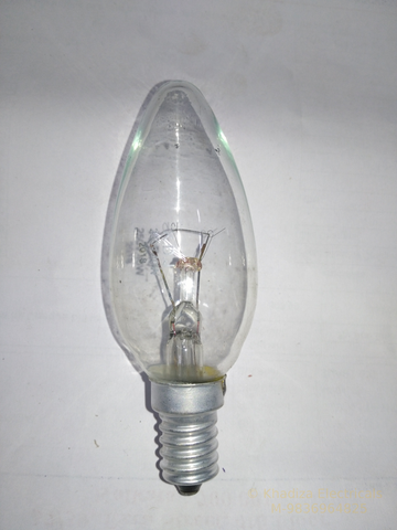 Khadiza Incandescent Candle Clear 40w Bulb (Box of 20 pcs)-[product_type]-E14 / India-Khadiza Electricals