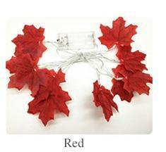 Maple Leaf Fairy Garland Led String Light-Decorative String Light-Red / 1.5M 10leds-Khadiza Electricals