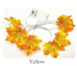 Maple Leaf Fairy Garland Led String Light-Decorative String Light-Yellow / 1.5M 10leds-Khadiza Electricals