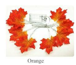 Maple Leaf Fairy Garland Led String Light Orange / 3M  20LEDs