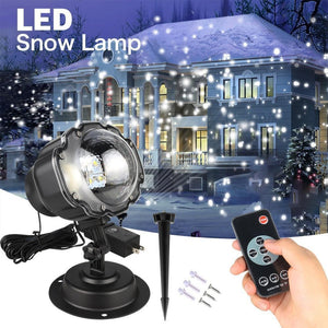 Waterproof Snowfall Laser Projector-DJ Lights & Sound-EU Plug-Khadiza Electricals