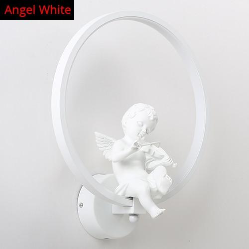 Remote Controlled Dim-able Bird/Angel LED Wall Lamp Made of Aluminum Ring