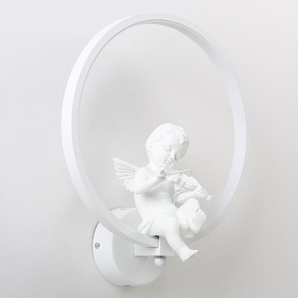 Remote Controlled Dim-able Bird/Angel LED Wall Lamp Made of Aluminum Ring-Decorative Wall Lamp-Angel   White / Cool White(5500-7000K)-Khadiza Electricals