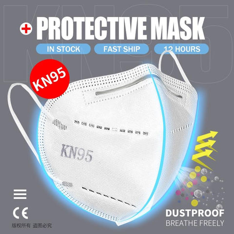 5 Layers KN95 Protective Mask with 95% Filtration by PM 2.5 filter