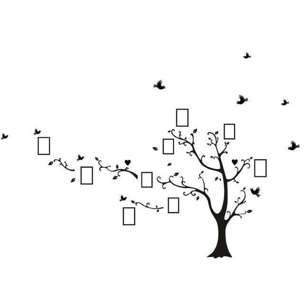 Vinyl tree wall sticker for home decor (DIY)-Non Electric Home Decor-black left-Khadiza Electricals