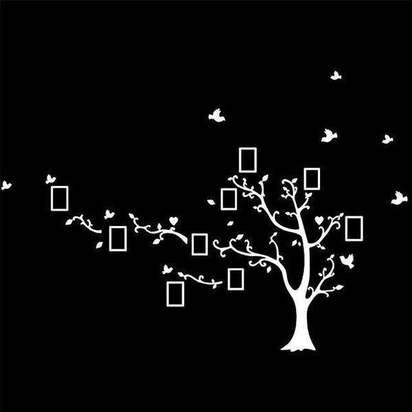 Vinyl tree wall sticker for home decor (DIY)-Non Electric Home Decor-white  left-Khadiza Electricals