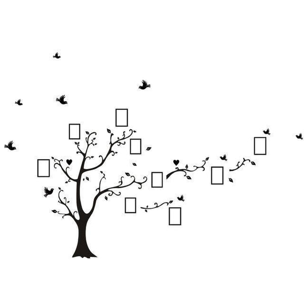 Vinyl tree wall sticker for home decor (DIY)-Non Electric Home Decor-black right-Khadiza Electricals