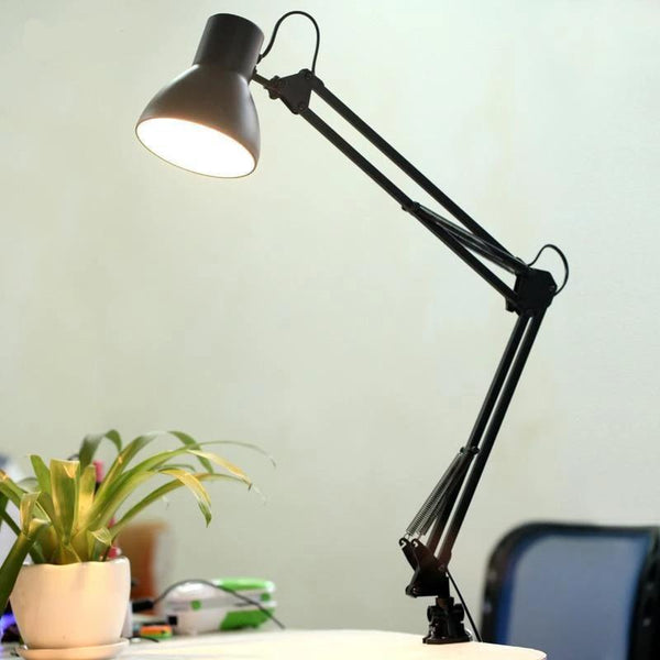 Flexible Led Clip Table Lamp (E27 220V)-Decorative Table Lamp-Black-Base type / China-Khadiza Electricals