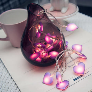 Love Heart LED String Light-Decorative String Light-Warm white / 1.5M 10LED-Khadiza Electricals