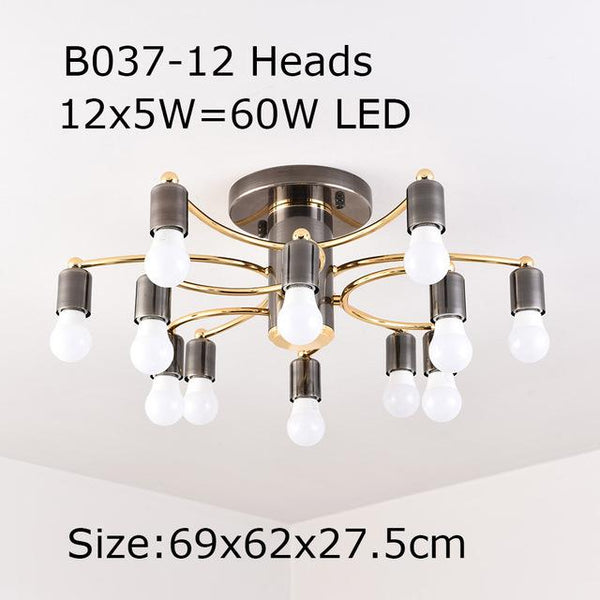 Modern Iron hanging Led ceiling Llamp (60/80W)