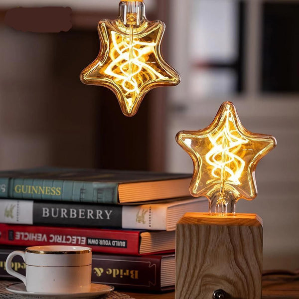 Star Shaped Spiral Filament LED Lamp-Decorative Night Lamp-Default title 0-Khadiza Electricals