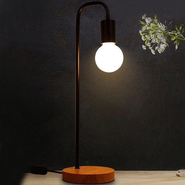 Vintage Table Lamp made of Wood and Metal-Decorative Table Lamp-[variant_title]-Khadiza Electricals