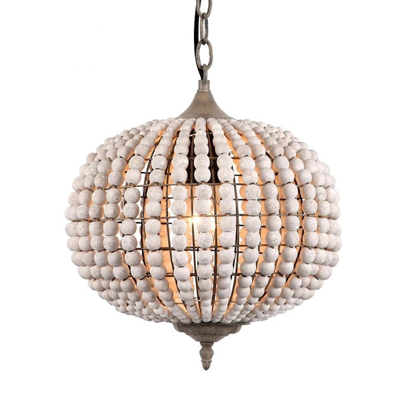 Vintage Wooden Bead Ball Shaped Pendant Lamp(Bulb Excluded)-Decorative Pendant Lamp-[variant_title]-Khadiza Electricals