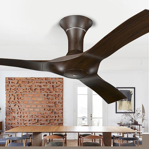 Minimalist Retro Decoration Ceiling Fan With Light