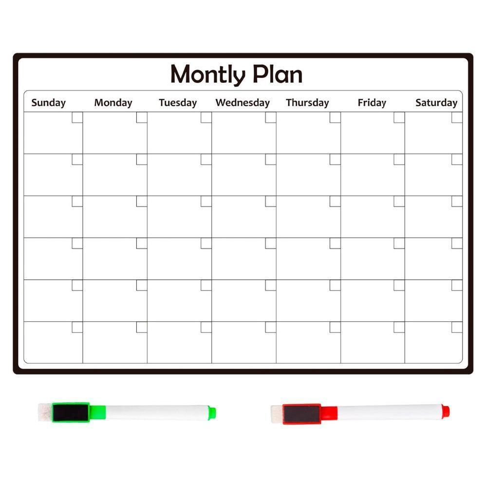 photograph about Monthly Planning Calendar identify Magnetic Fridge Calendar Sticker for Weekly/Regular monthly Creating (Reusable)