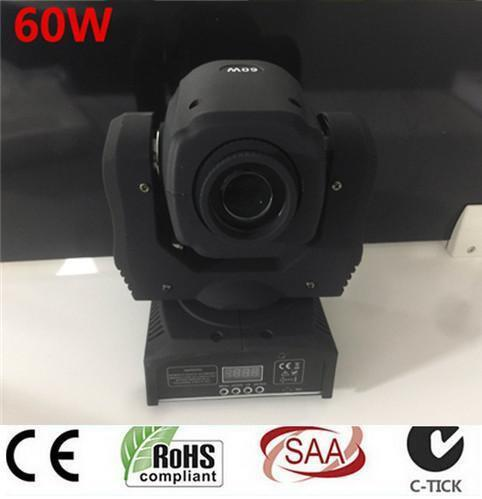 Mini Moving Head Spot Light  60W unit price for 2pcs / EU Plug