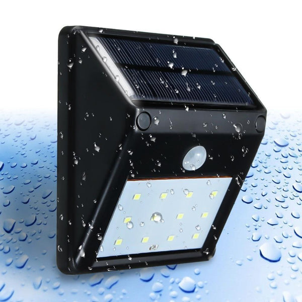 Waterproof Solar Light LED Outdoor Light with PIR Motion Sensor(12 LED)-Solar Outdoor Wall Lamp-[variant_title]-Khadiza Electricals