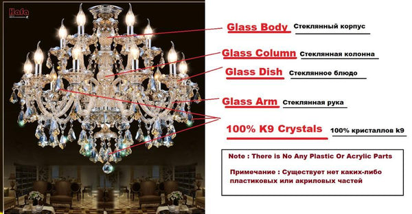 European Styled Luxurious Marble Crystal Chandelier