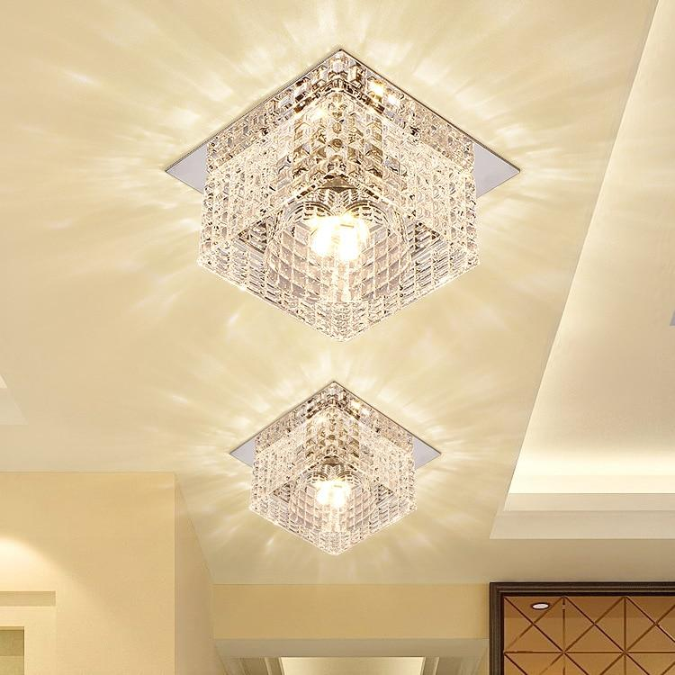 Crystal Glass Chandelier (3W/ 5W, Dia100mm) Surface Mounted / 5W / Colorful