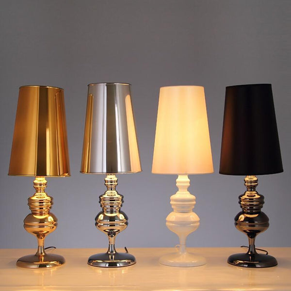 The Spanish Style Table Lamps-Decorative Table Lamp-White / Small-Khadiza Electricals