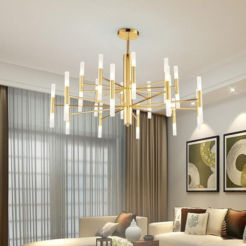 Black Gold Led Ceiling Suspended Chandelier