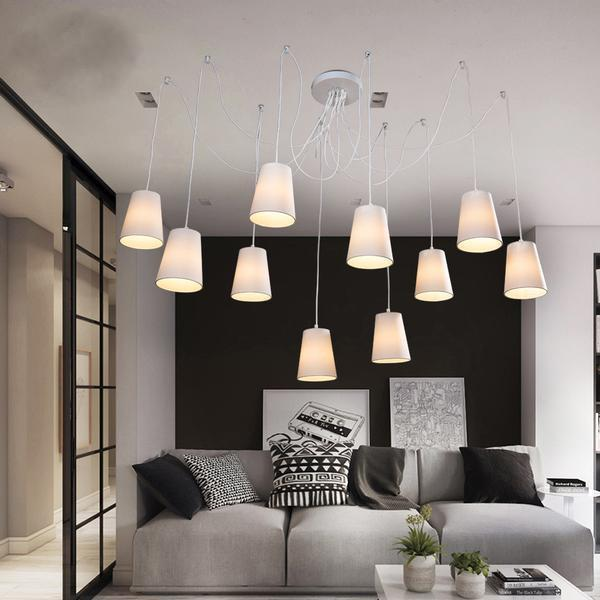 Modern large spider chandeliers-Decorative Chandelier-white / United States-Khadiza Electricals