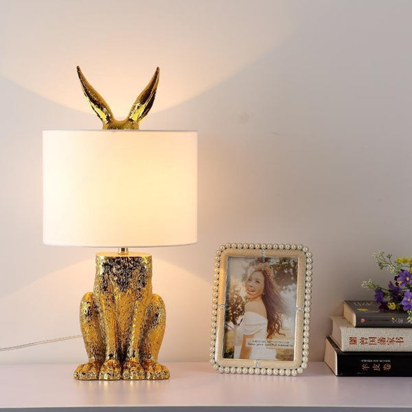 Modern Gold Rabbit Table Lamp-Decorative Table Lamp-[variant_title]-Khadiza Electricals