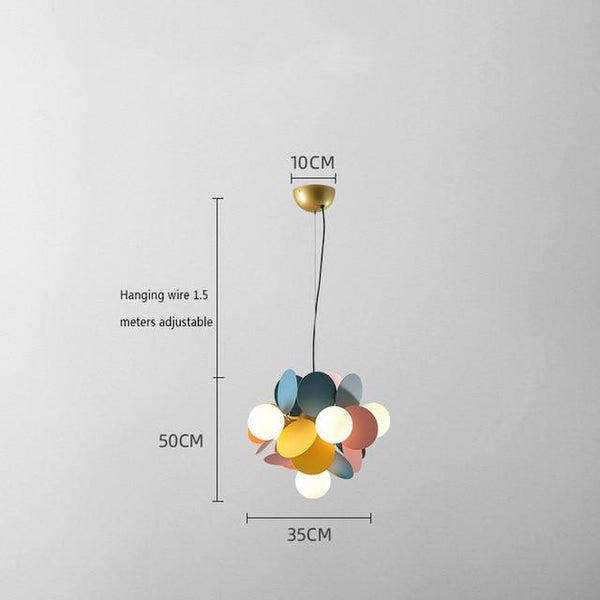 Multicolor Iron Chandelier