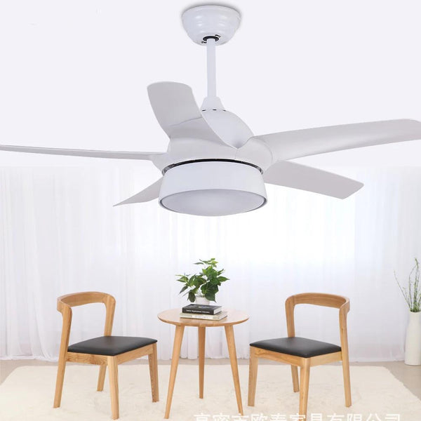 Modern Ceiling Fan With LED Dining lamp & Remote Control( Bulbs Included; Color - Gold Black White Pink)-Decorative Fan-White-42inch-Khadiza Electricals