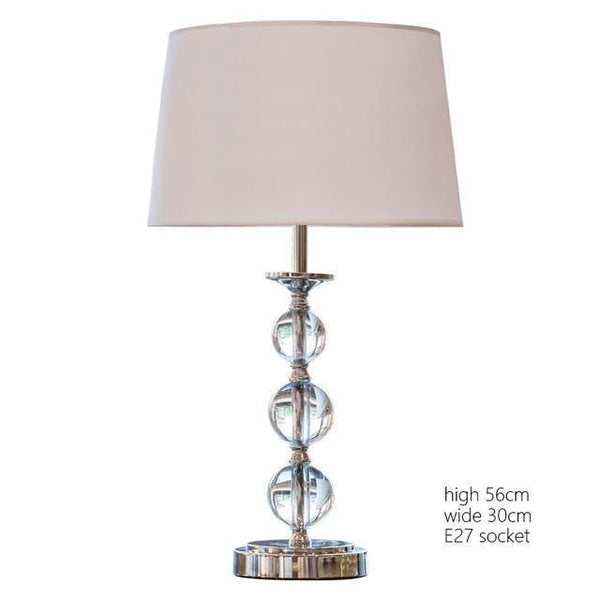 Modern LED Table Lamp made of Crystal and Stainless Steel-Decorative Table Lamp-L model-Khadiza Electricals