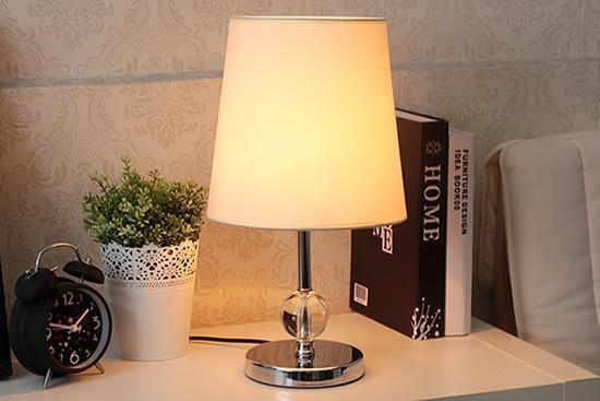 Modern LED Table Lamp made of Crystal and Stainless Steel-Decorative Table Lamp-S model-Khadiza Electricals