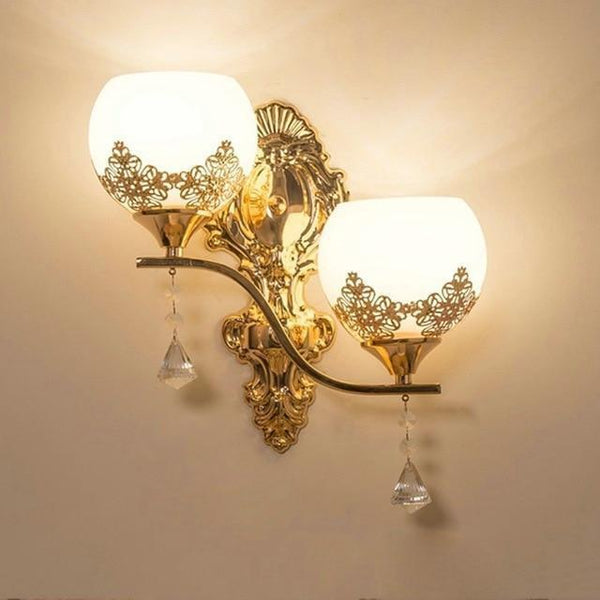 Buy European Design Modern Golden Led Wall Lamp Online-Decorative Wall Lamp-B4-Khadiza Electricals