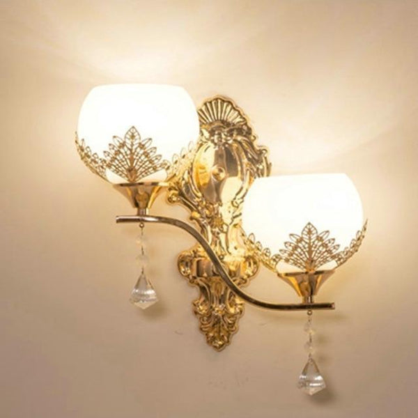 Buy European Design Modern Golden Led Wall Lamp Online-Decorative Wall Lamp-B1-Khadiza Electricals