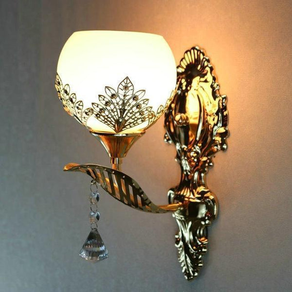 Buy European Design Modern Golden Led Wall Lamp Online-Decorative Wall Lamp-A1-Khadiza Electricals