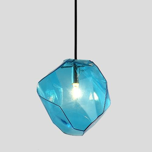 Creative Colorful Glass Pendant Lamps (Bulb Included) blue glass / S-180mm