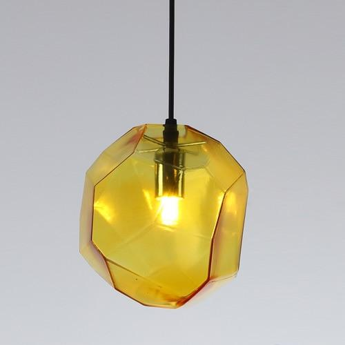 Creative Colorful Glass Pendant Lamps (Bulb Included) yellow glass / S-180mm