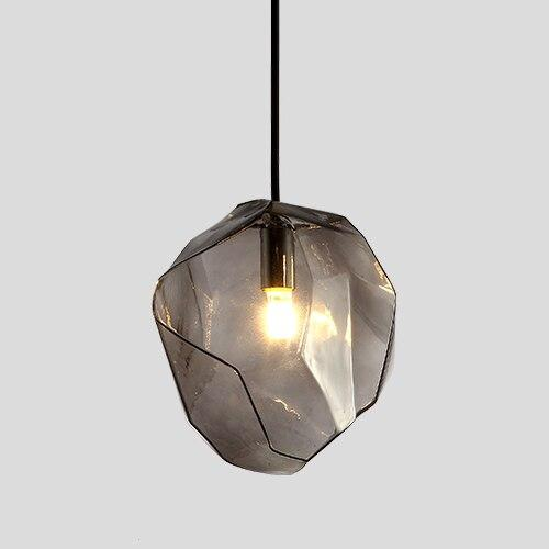 Creative Colorful Glass Pendant Lamps (Bulb Included) grey glass / S-180mm