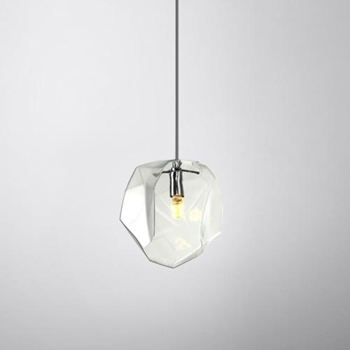 Creative Colorful Glass Pendant Lamps (Bulb Included) clear glass / S-180mm